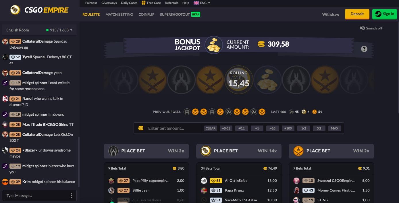 CSGOEmpire main page