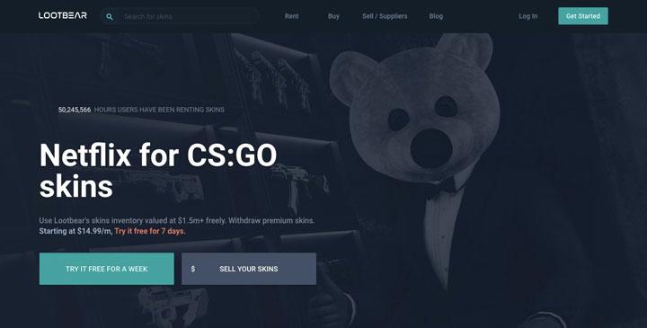 LootBear main page