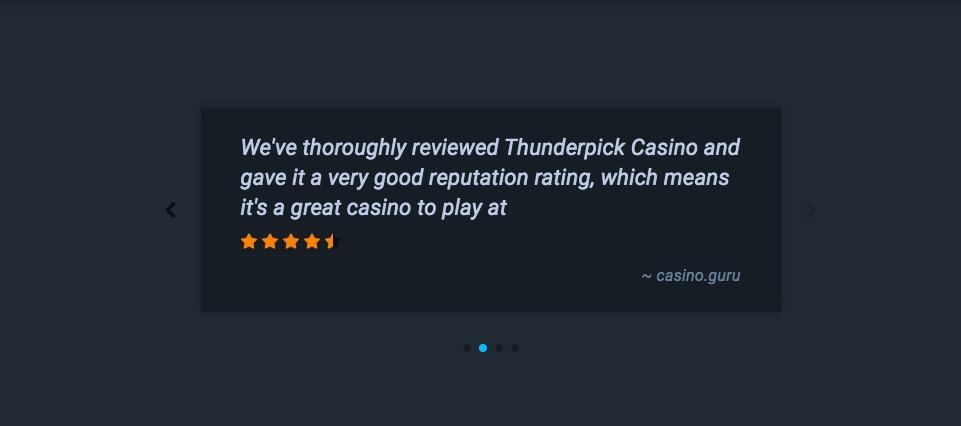 Thunderpick testimonial