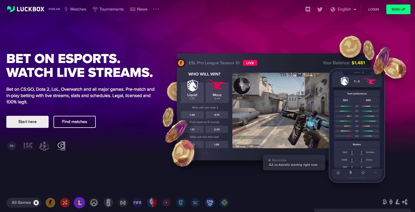 luckbox main page